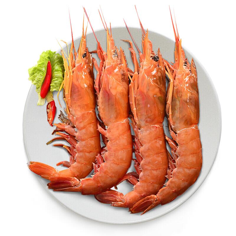 海鲜水产阿根廷进口新鲜冷冻大虾红虾(2kg一盒约20-40只)谊海广州发货