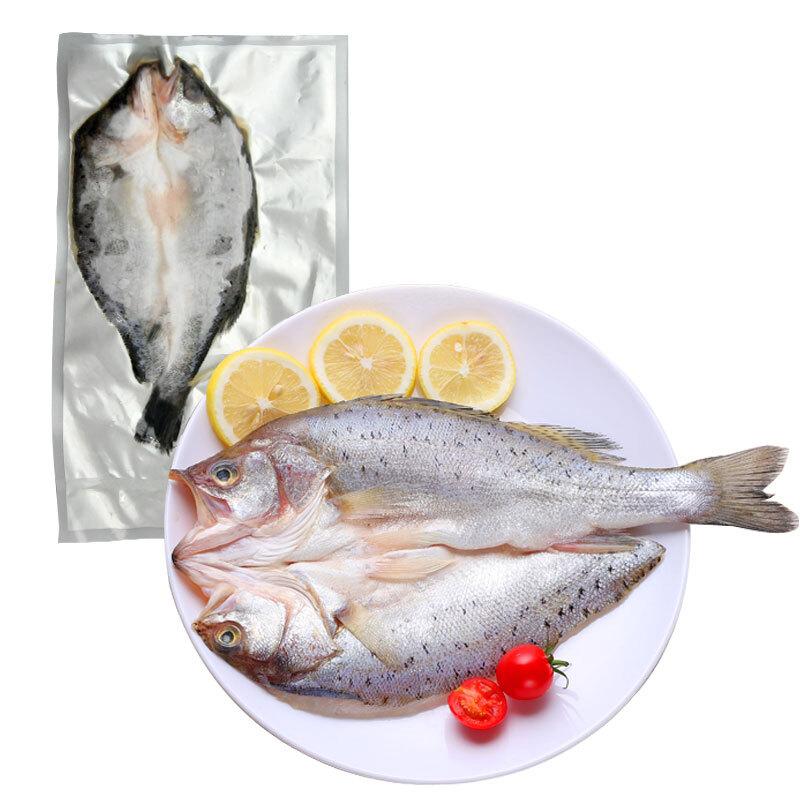 海味食品新鲜海鲜水产觅奇海鲈鱼鲜活广州谊海冷冻(400-500g/条)/袋