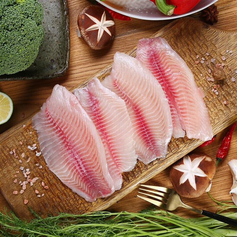 新鲜美味精品海鲜鲜鱼类冷广州冻产品水晶鲷鱼片 500g/1条/袋谊海