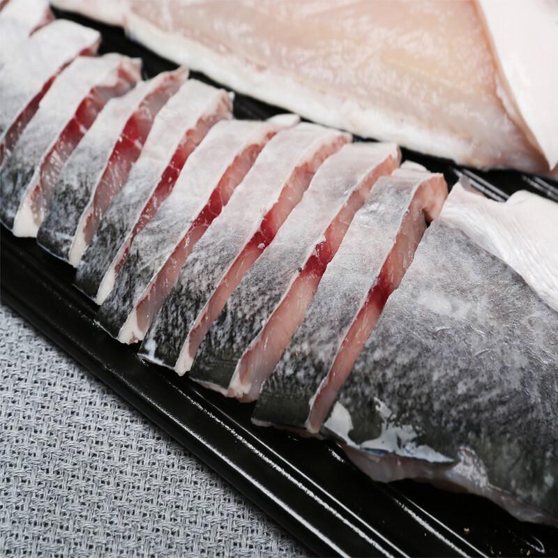 海鲜食材鱼肉水产进口越南冷冻带皮巴沙鱼片鱼柳一袋( 220g/条 4条/袋 )谊海广州发货