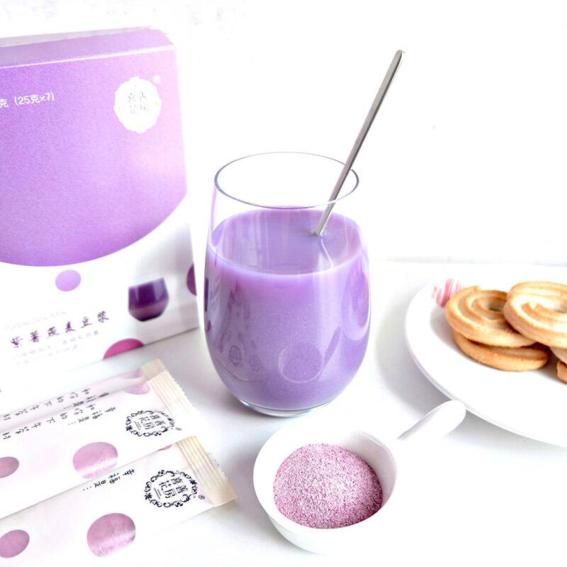喜善花房紫薯燕麦豆浆粉营养健康早餐粉黄豆浆原味无奶精方便低卡 红色